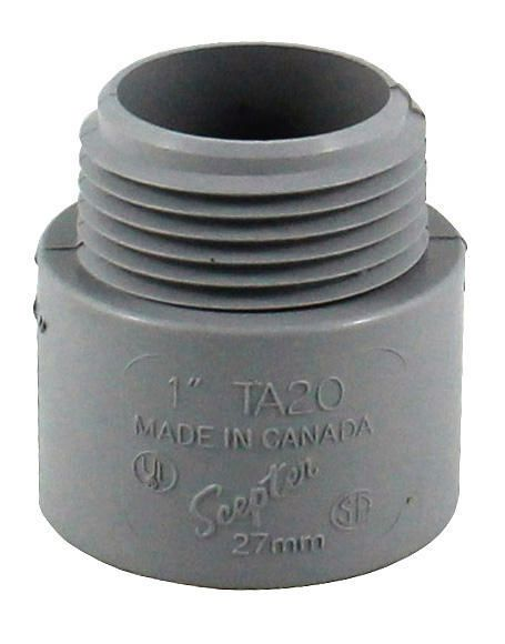 "TA20 1"" PVC TERMINAL ADPT SCEPTER"
