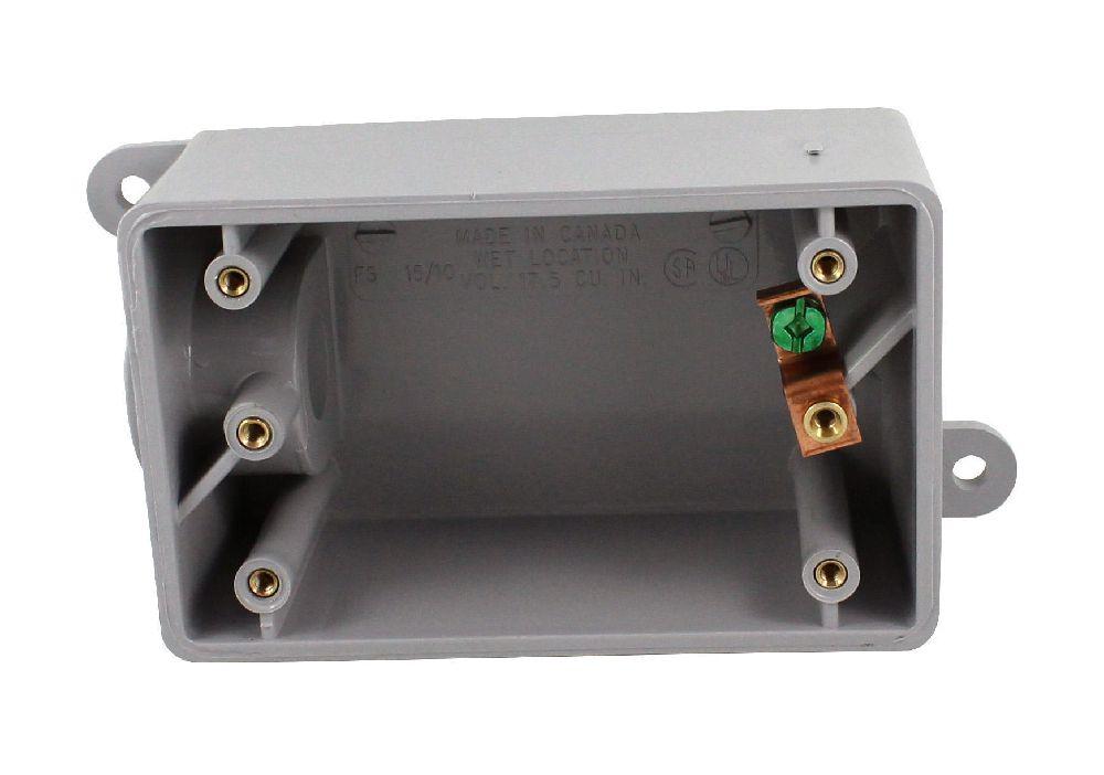 "FS10 1/2"" PVC FS SING. GANG BOX SCEPTER"