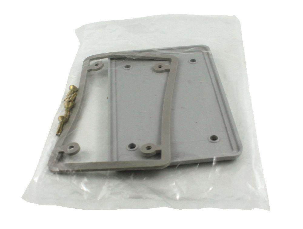 BRC15/10 PVC SING. GANG COV. PLATE BLANK W/ GSKT SCEPTER